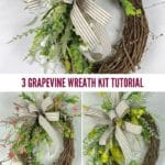 3 Grapevine Wreath Kit Tutorial