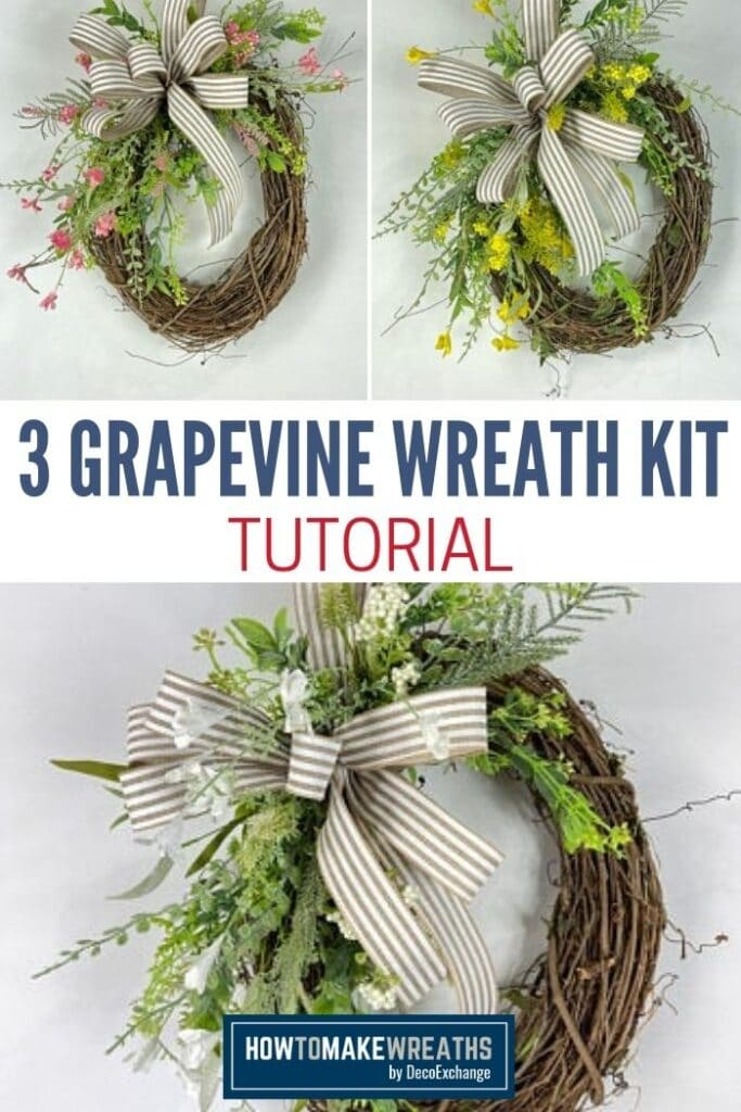 How to Make 3 Grapevine Wreaths Tutorial