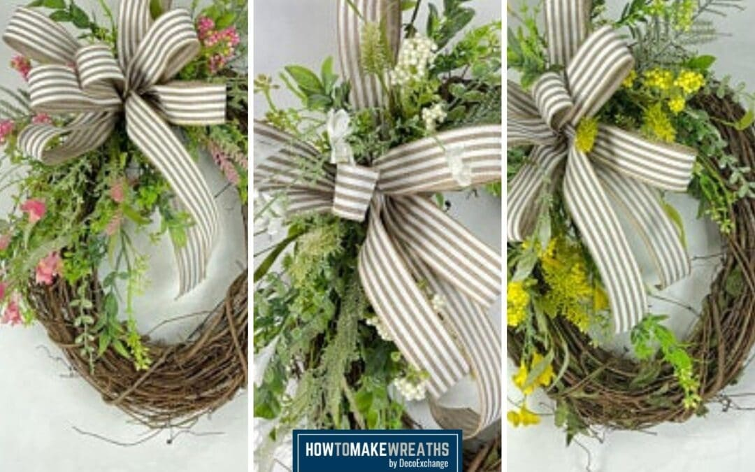 3 Spring Grapevine Wreath Kit Tutorial