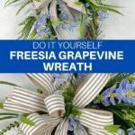 DIY Freesia Grapevine Wreath