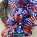 Patriotic Deco Mesh Grapevine Wreath