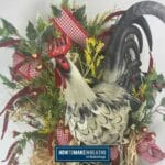 Double Grapevine Rooster Wreath