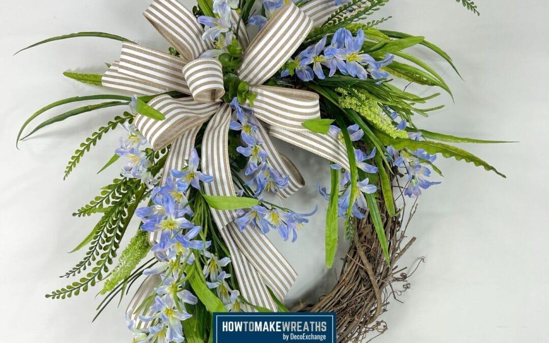 Freesia Grapevine Wreath