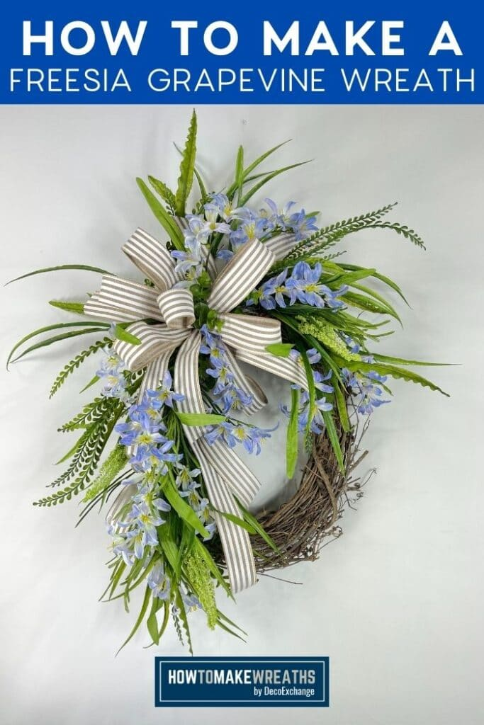 How to Make a Freesia Grapevine Wreath