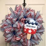 How to Make a Patriotic Red White Blue Wreath