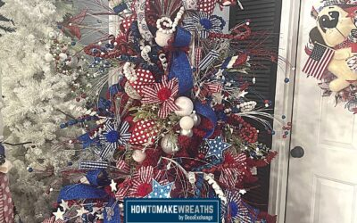 How To Make A Patriotic Christmas Tree