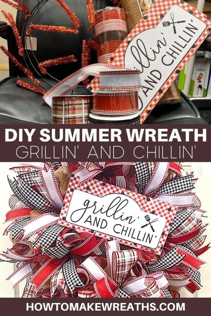 DIY Summer Wreath - Grillin and Chillin