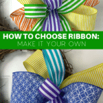 Multi colored striped ribbons for a bow