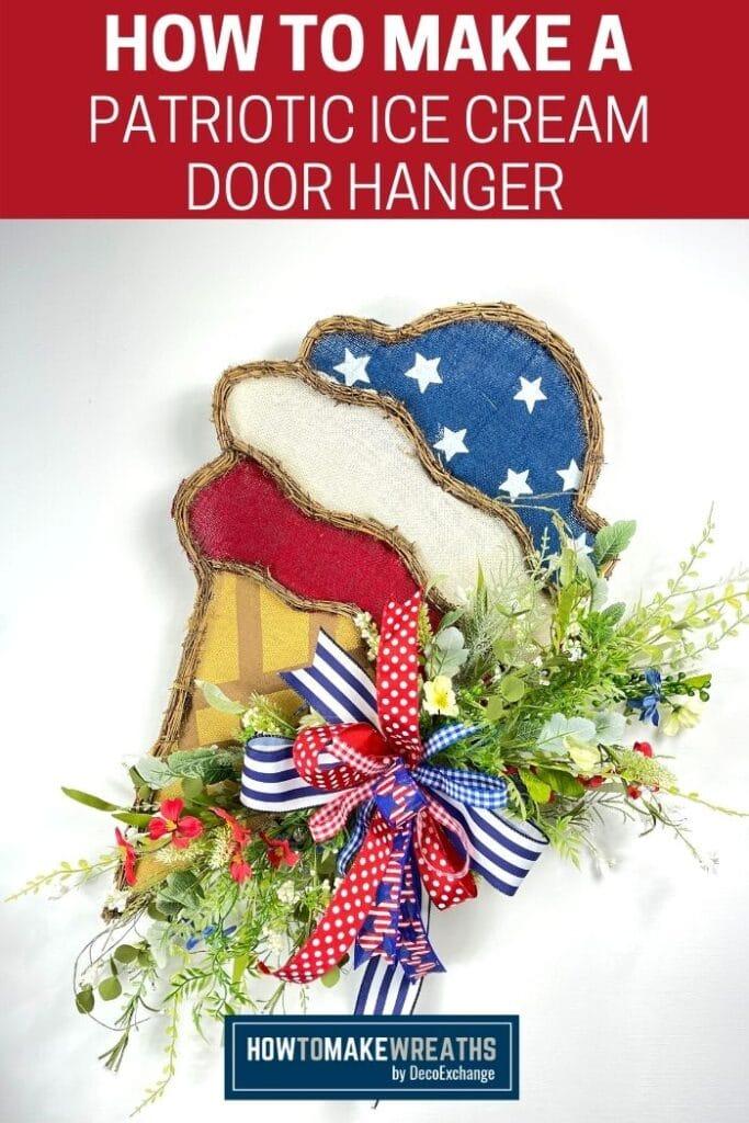How to Make a Patriotic Ice Cream Door Hanger