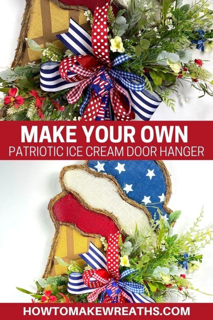Make Your Own Patriotic Ice Cream Door Hanger
