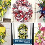 Summer Color themed Wreaths