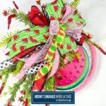 Bike Wheel Watermelon Wreath