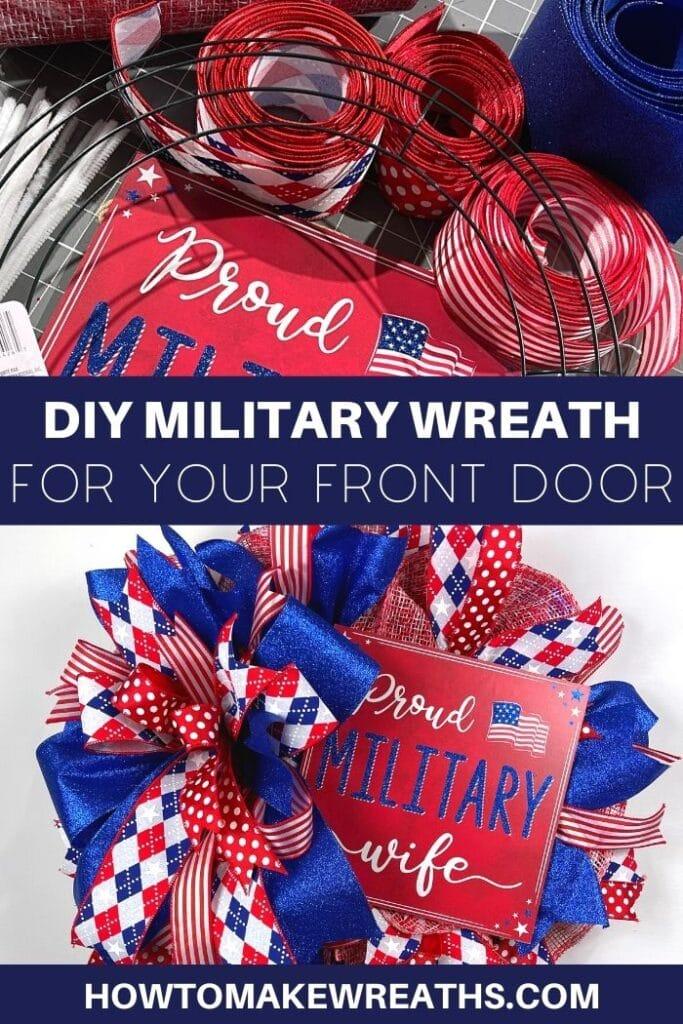 DIY Military Wreath For Your Front Door