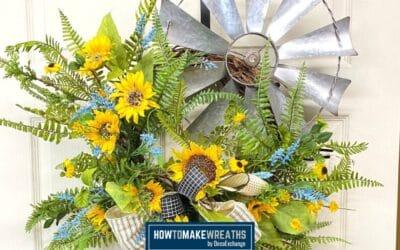 Cute Farmhouse-Style Windmill Wreath {DIY Windmill Decor}