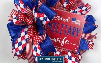 How To Make A Proud Wife Military Wreath