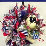 How to Make a Patriotic Dog Wreath