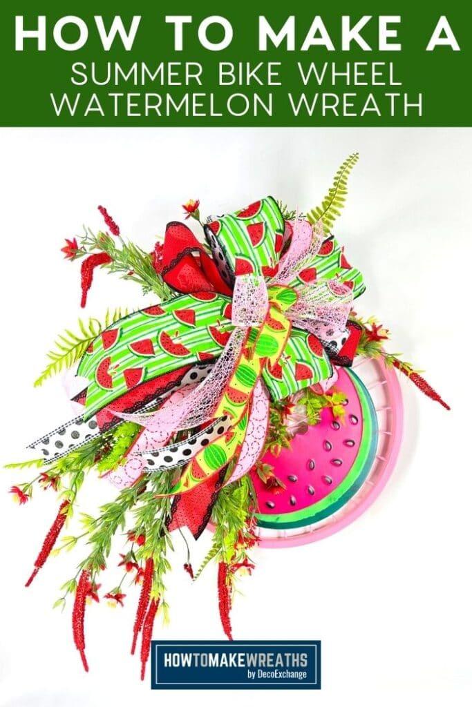 How to Make a Summer Bike Wheel Watermelon Wreath