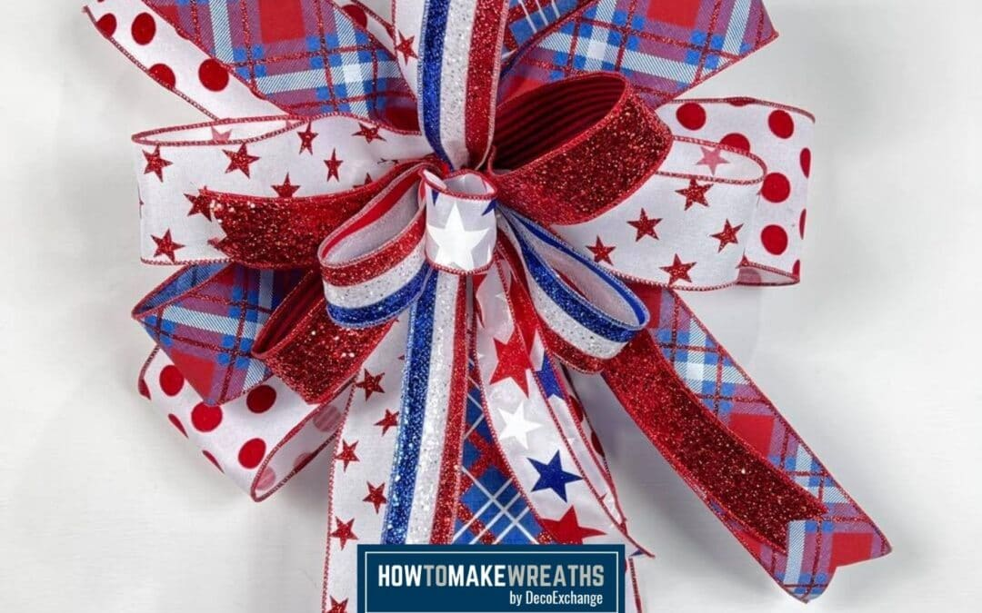 Making a Patriotic Bow