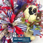 Patriotic Dog Wreath