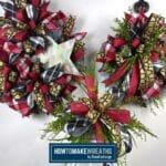Burgundy, Plaid, & Gold Designer Wreath