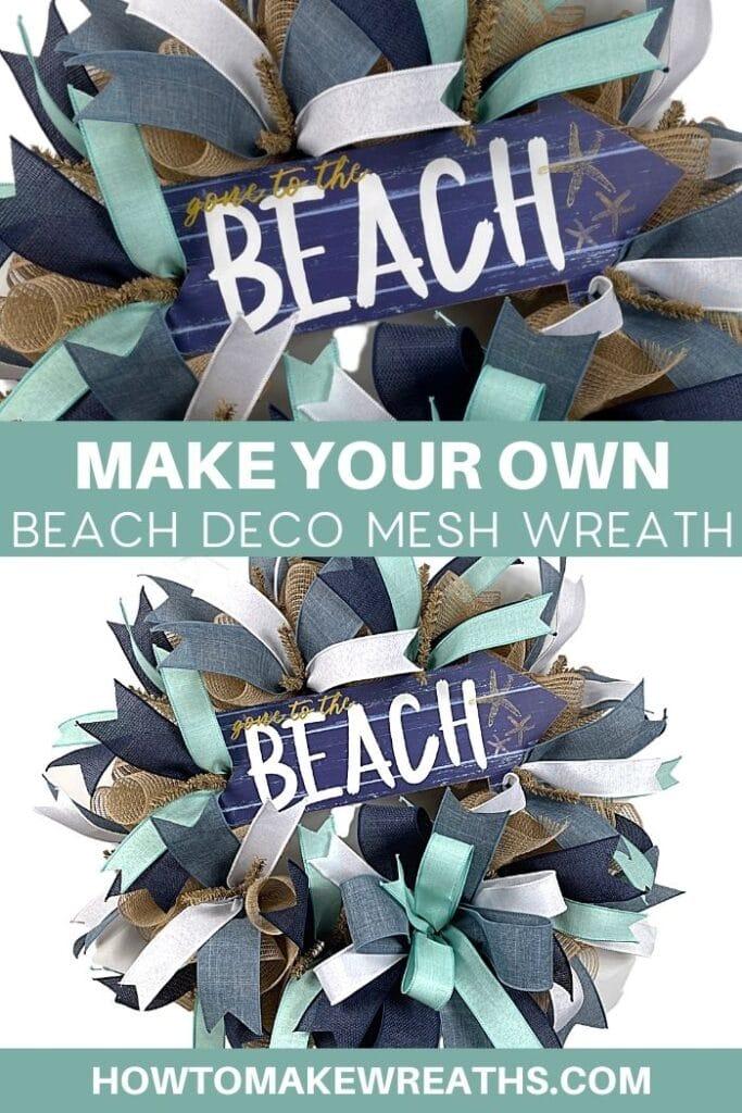 Make your Own Beach Deco Mesh Wreath