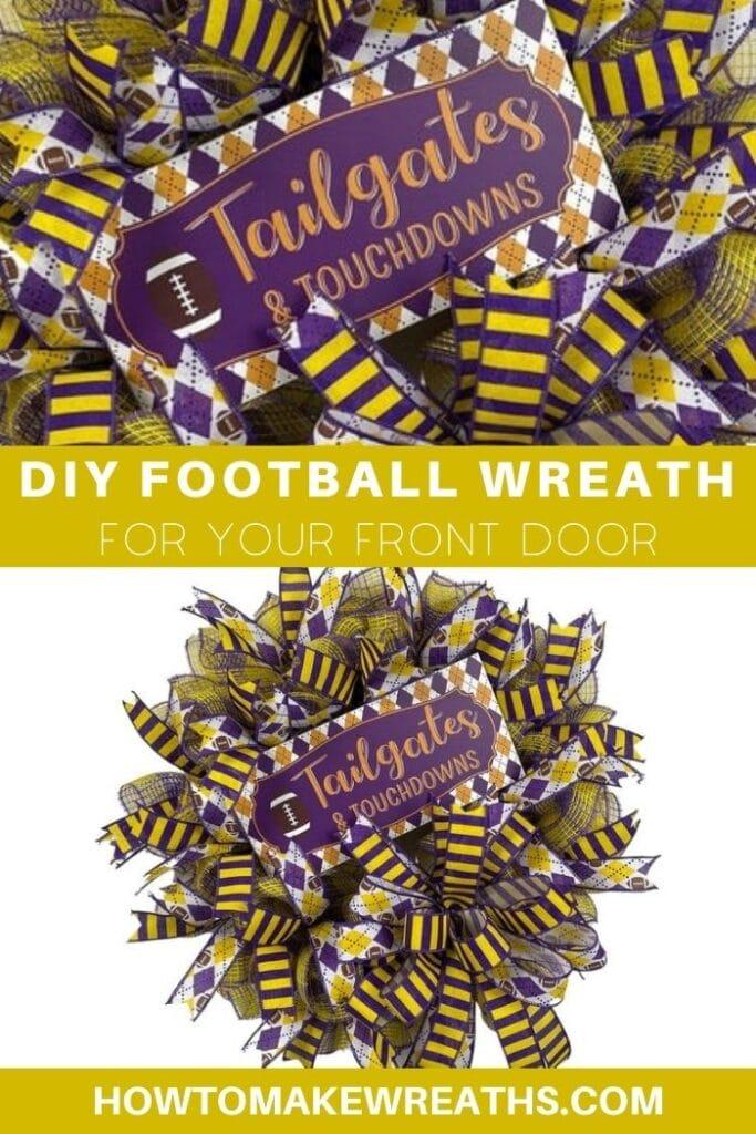 DIY Football Wreath For Your Front Door