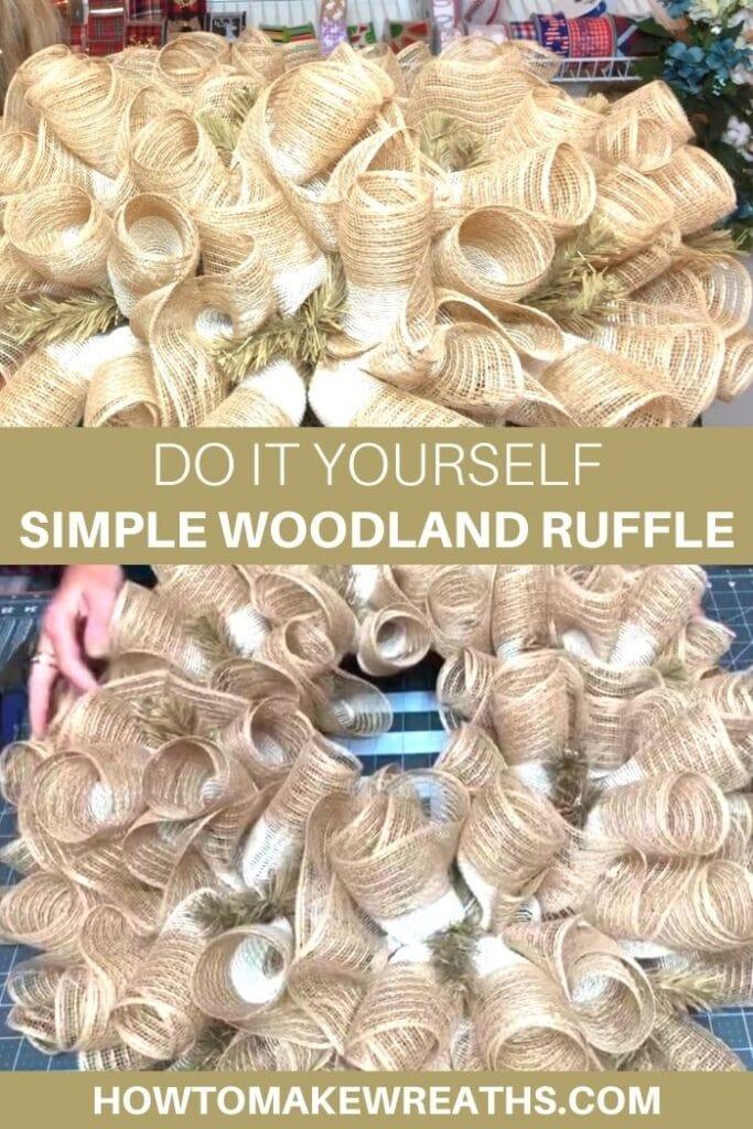 Do It Yourself Simple Woodland Ruffle