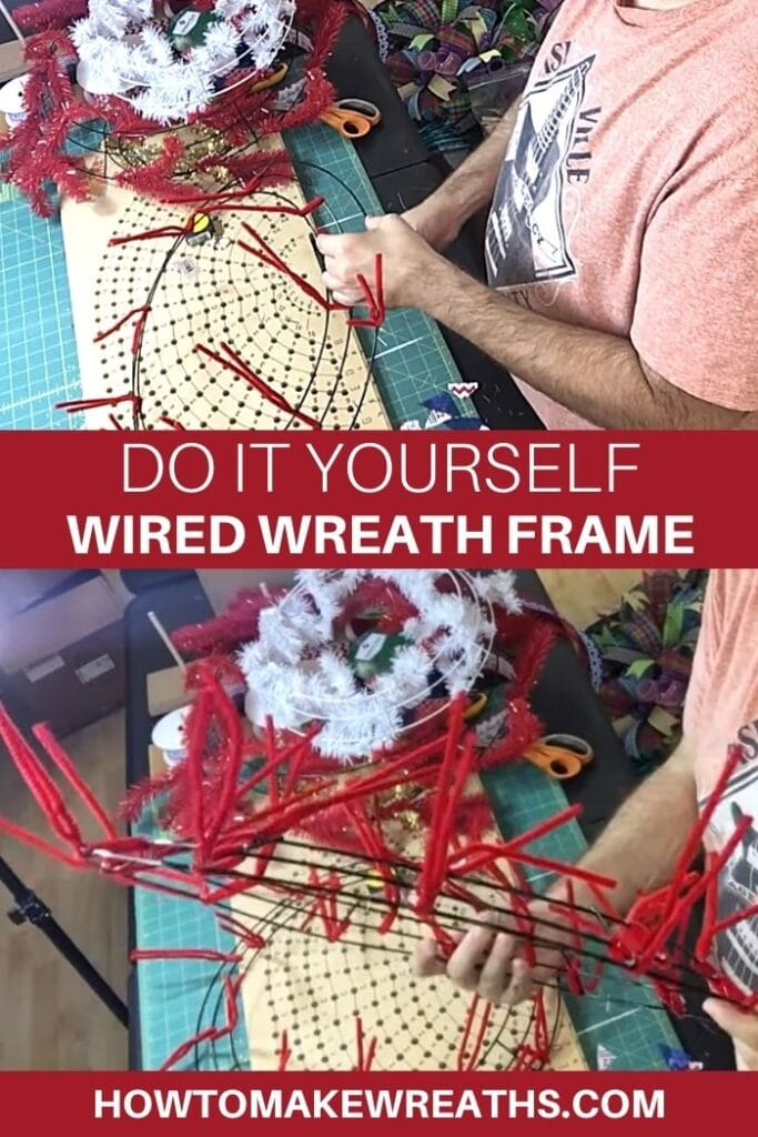 Do It Yourself Wired Wreath Frame
