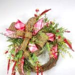 How to Make a Grapevine Wreath with a Leopard Print Bow