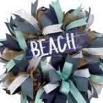 How to Make a Beach Deco Mesh Wreath