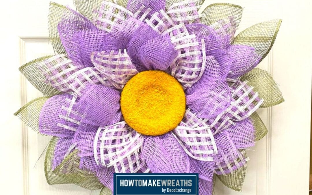 Use The UITC Flower Board To Make A Mesh Flower Wreath