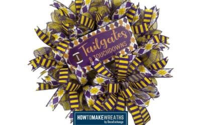 Purple And Gold Football Wreath