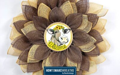 How To Make A UITC Cow Flower Wreath