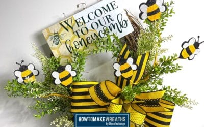Welcome To Our Honeycomb Floral Grapevine Wreath