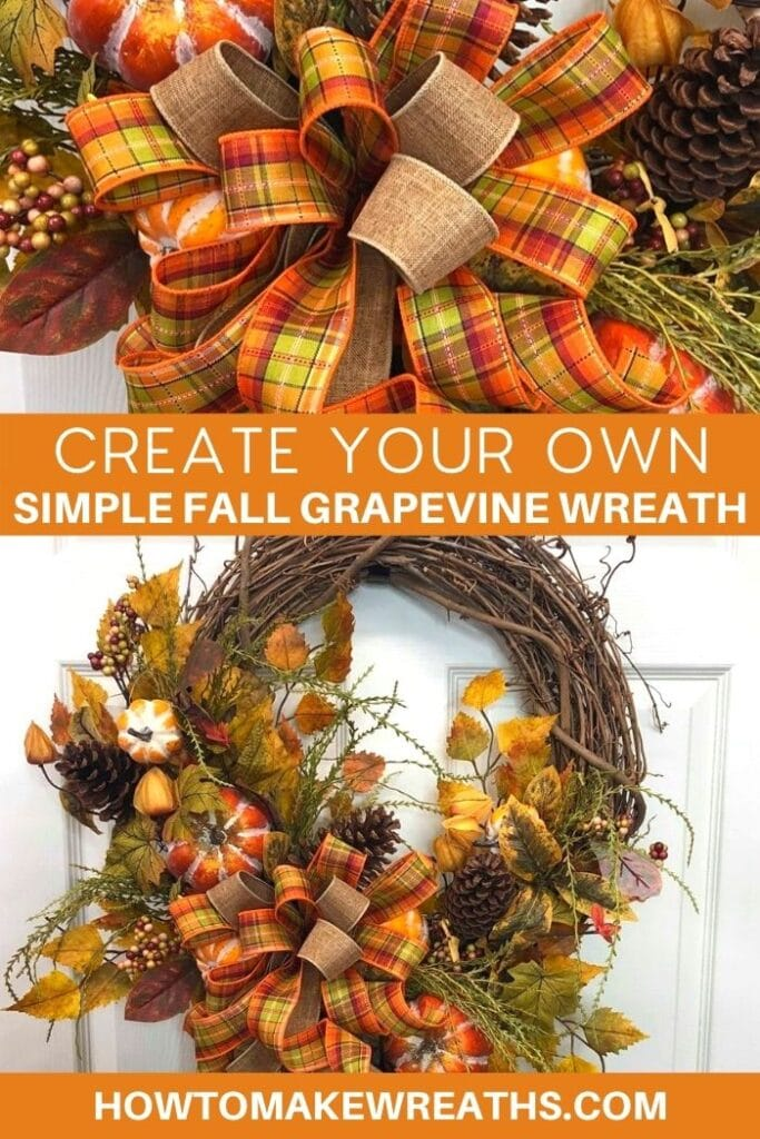 Create Your Own Simple Fall Grapevine Wreath
