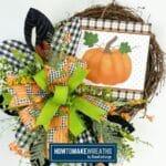 Designer Pumpkin Grapevine Wreath