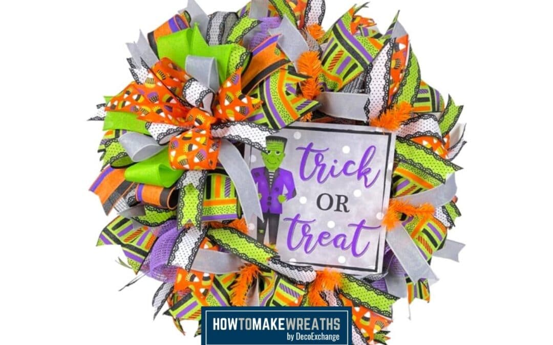 How to Make a Trick or Treat Wreath for Halloween