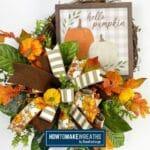 How to make an autumn grapevine wreath