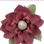 How to Make a Red Magnolia Flower Wreath