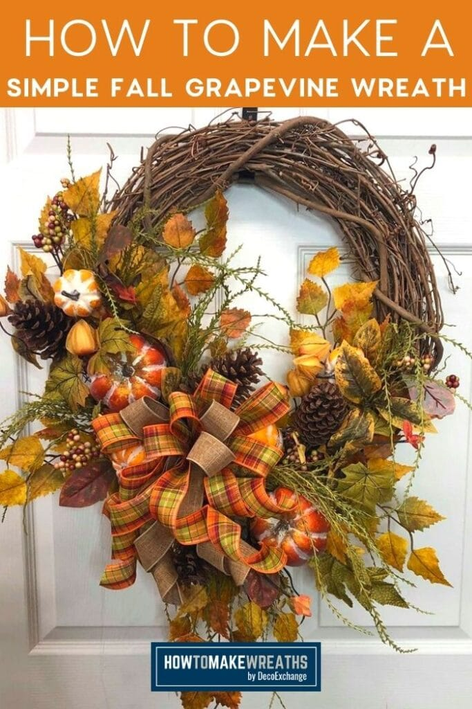 How To Make A Simple Fall Grapevine Wreath