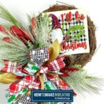 I'll Be Gnome for Christmas Grapevine Wreath