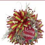 How to Make a Christmas Wreath Using Deco Mesh