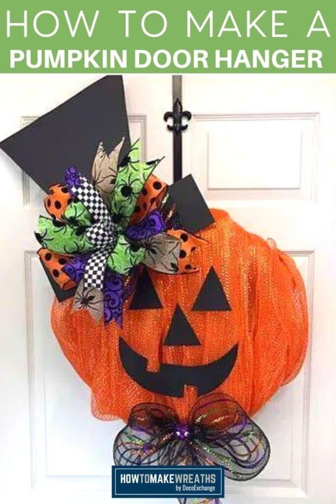 How to Make a Pumpkin Door Hanger