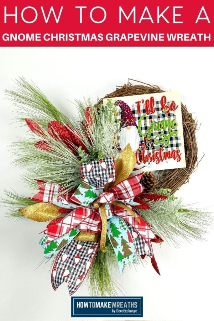 How to Make a Gnome Christmas Grapevine Wreath