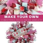 Make Your Own Merry Christmas Deco Mesh Wreath