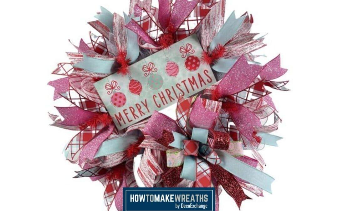 DIY Merry Christmas Deco Mesh Wreath