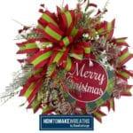 Merry Christmas Deco Mesh Wreath Kit Tutorial