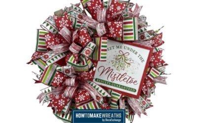 Meet Me Under the Mistletoe Christmas Wreath