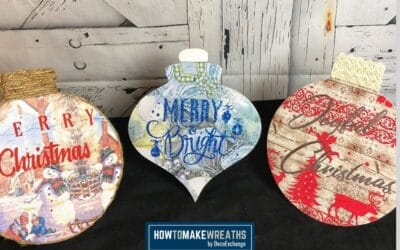 How To Make A Decoupaged Wood Christmas Sign