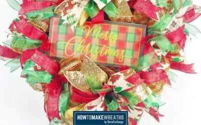 Christmas Wreath with Glitter Ribbon